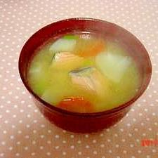 生姜風味♪鮭のおみそ汁