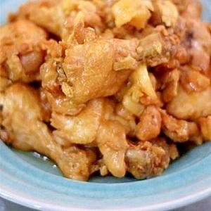 鶏手羽元の黒酢にんにく煮