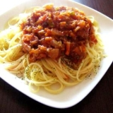 野菜たっぷり♪絶品!ミートソーススパゲティ