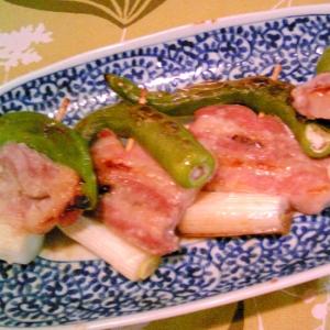 豚バラの串焼き