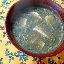 黒ゴマ坦々豆腐汁