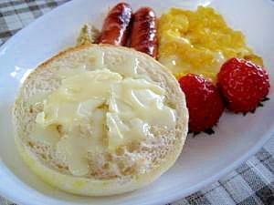 イングリッシュマフィンde練乳バター