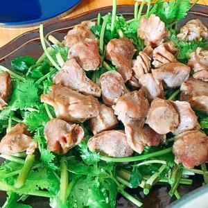パクチーづくし★砂肝ソテーサラダ