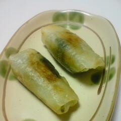 小松菜ときゅうりのキューちゃんの春巻き