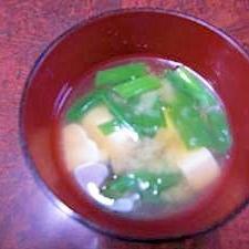 豆腐と青ネギの味噌汁