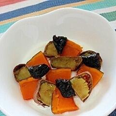 ねっとり甘い☆かぼちゃとお芋のプルーンヨーグルト♪