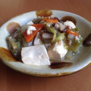 豆腐と野菜のそぼろあん♪