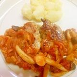 ☆豚ヒレステーキ、きのこ、野菜トマトソース添え☆