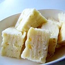ヨーグルトとバナナの蒸しパン