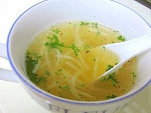 パスタの茹で汁☆ 「大根コンソメスープ」