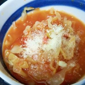 誰でも簡単♪煮込むだけキャベとまスープ
