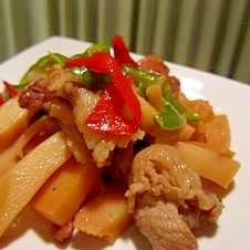 豚肉と竹の子の甘辛炒め