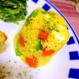 コロコロ野菜とクリームチーズのクスクスサラダ