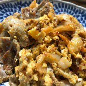 豚キムチの卵炒め