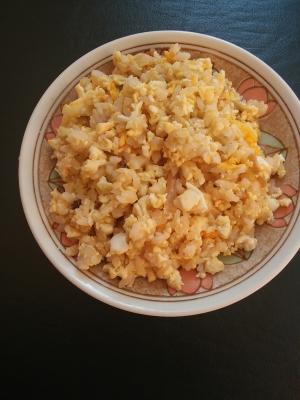 ヘルシー♪炒り豆腐と三十雑穀ご飯で♪たまご炒飯