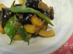 真竹とナスの味噌煮