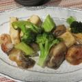 ブロッコリーと牡蠣のオイスターソース炒め