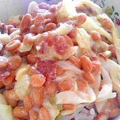 納豆の食べ方-梅キャベツ生姜♪