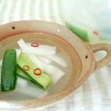 韓国水キムチ/トンチミ風☆大根とキュウリのお漬物
