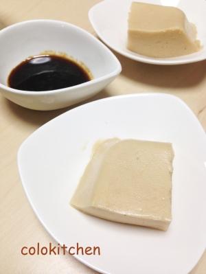 ピーナッツバターでジーマーミー豆腐