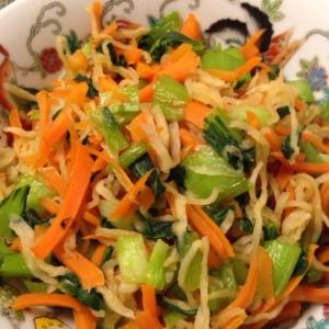 3種の野菜で彩り切干し大根♬
