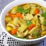 カレーうどん IN凍み豆腐