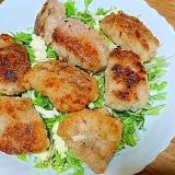 塩麹カツレツの水菜サラダ