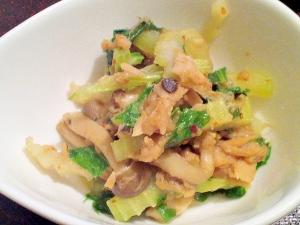 セロリとツナのピリ辛醤油麹炒め