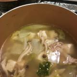 野菜たっぷり!鶏塩白湯風スープ