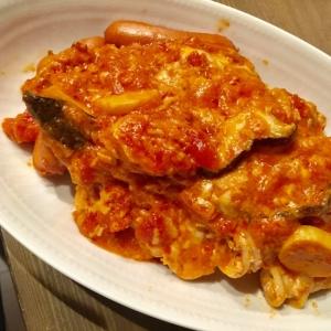 高タンパクメニュー★トマトチーズ煮込み
