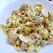南国料理☆バナナの苞(花)と鶏肉の炒め物