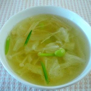 キャベツと枝豆のスープ