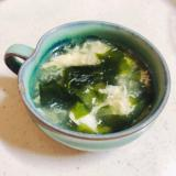 えのきとワカメのかきたまスープ