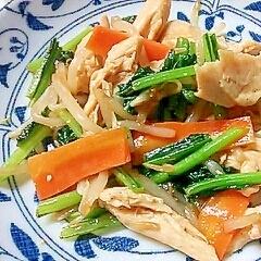 ささみと小松菜ともやしの中華炒め