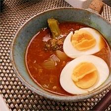 鶏挽肉と大根入りスープカレー