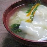 しゃきしゃき系☆鶏がらワンタンスープ