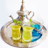日本茶で淹れる モロッコ流ミントティー