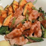 豚ヒレ肉と野菜の炒め物
