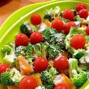 かぼちゃとブロッコリーの温野菜