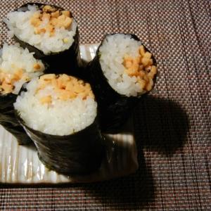 エゴマと納豆の海苔巻き