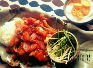 お野菜たっぷり!ひよこ豆のトマト煮プレート