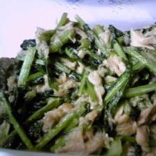 カブの葉も有効活用!カブの葉とシーチキンの炒め煮