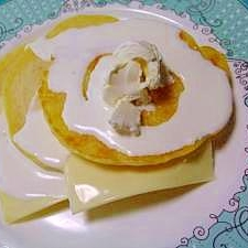 爽やかなё 2種類のチーズのヨーグルトパンケーキ