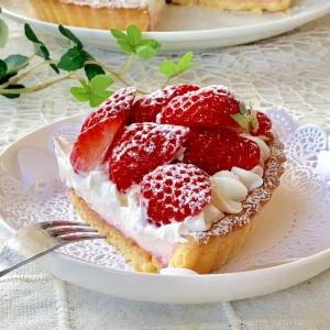 ♡フレッシュ苺のミルキーミルクプリンタルト♡