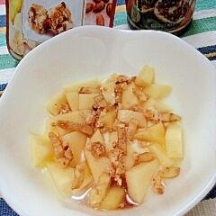 黒酢プラス☆りんごのフルーティヨーグルト♪