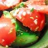 きゅうりとトマトのごま油塩麹和え
