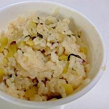 離乳食♪ さつま芋の味噌汁ご飯