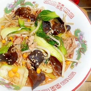 インスタン麺で☆具たっぷりの味噌ラーメン☆