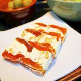 干し柿と胡桃のクリームサンド