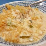 味噌汁リメイク(^^)簡単チーズクリームパスタ♪
